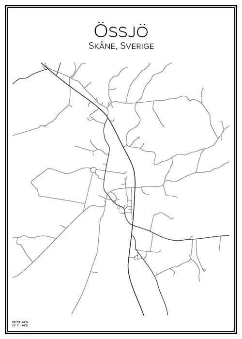 Stadskarta över Össjö