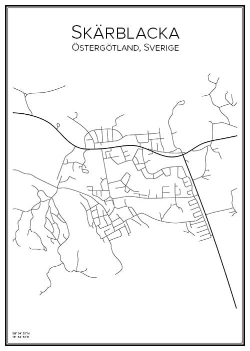 Stadskarta över Skärblacka