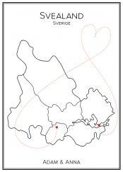 Kärlekskarta över Svealand