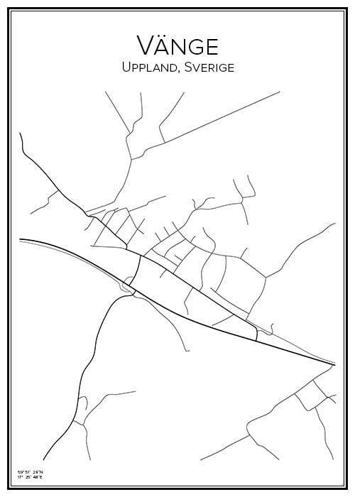 Stadskarta över Vänge
