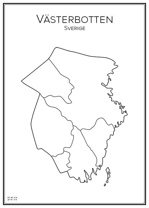 Affisch över Västerbotten