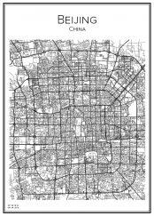 Stadskarta över Peking