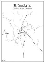 Stadskarta över Björsäter