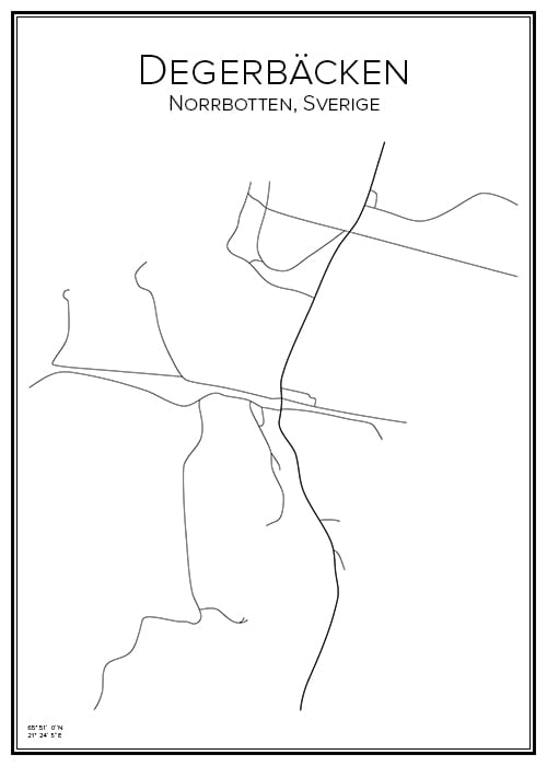 Stadskarta över Degerbäcken