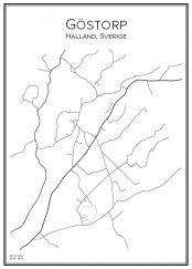 Stadskarta över Göstorp