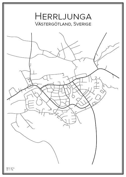 Stadskarta över Herrljunga