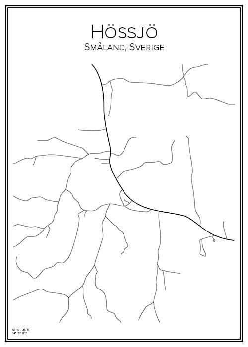 Stadskarta över Hössjö