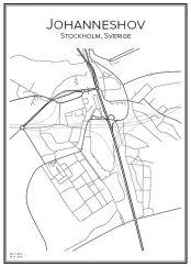 Stadskarta över Johanneshov
