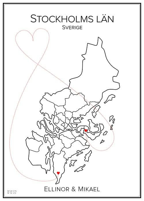 Kärlekskarta över Stockholm