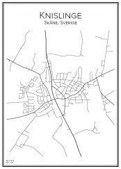 Stadskarta över Knislinge