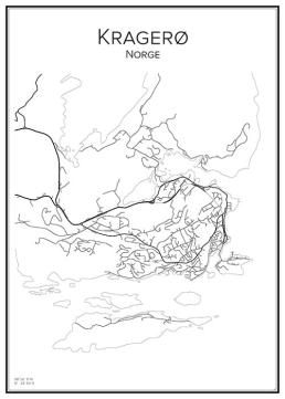 Stadskarta över Kragerø