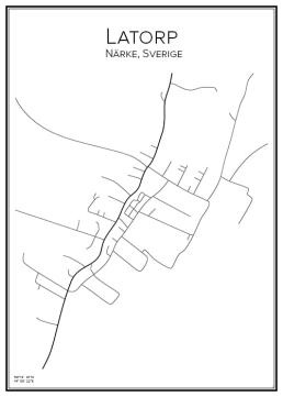 Stadskarta över Latorp