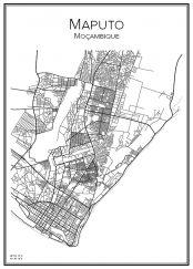 Stadskarta över Maputo