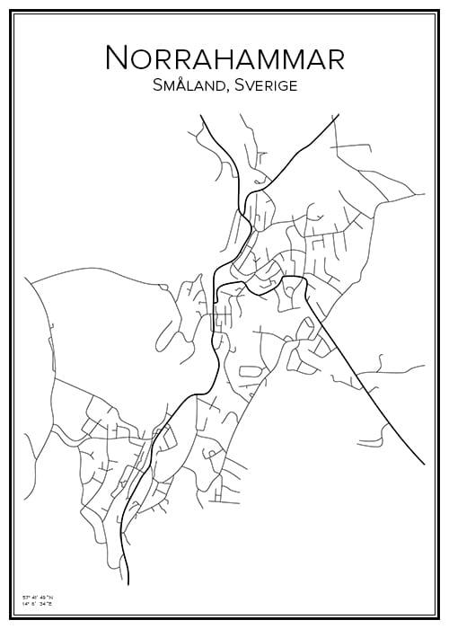 Stadskarta över Norrahammar