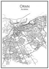 Stadskarta över Oran