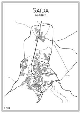 Stadskarta över Saïda