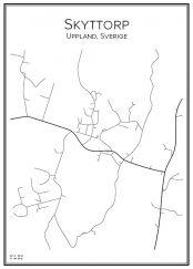 Stadskarta över Skyttorp