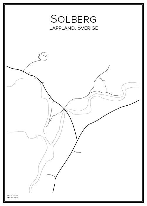 Stadskarta över Solberg