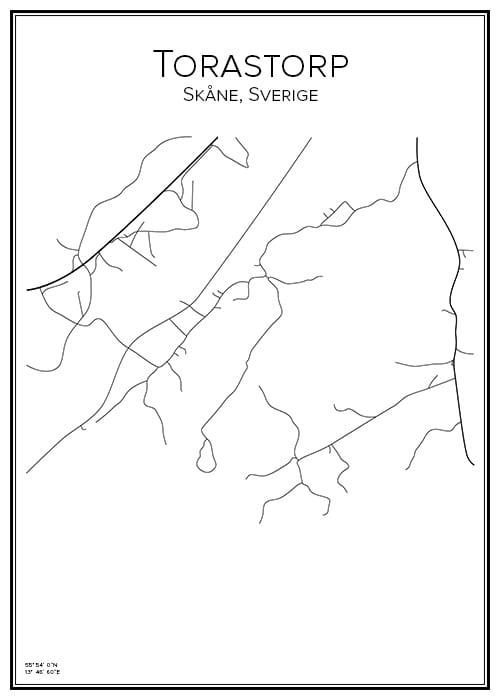 Stadskarta över Torastorp