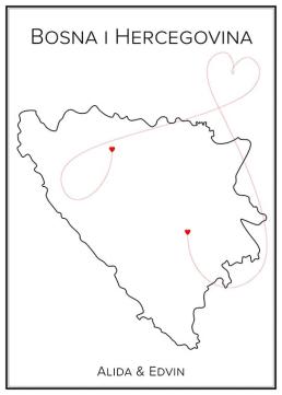 Bosnien och Hercegovina - Kärlekskarta
