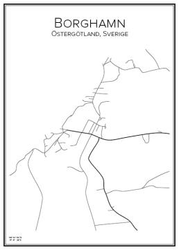 Stadskarta över Borghamn