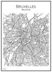 Stadskarta över Bryssel