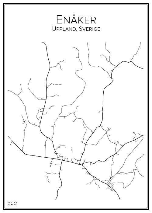 Stadskarta över Enåker