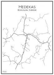 Stadskarta över Hedekas