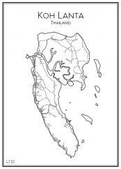 Stadskarta över Koh Lanta