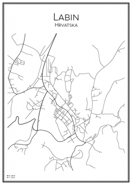 Stadskarta över Labin