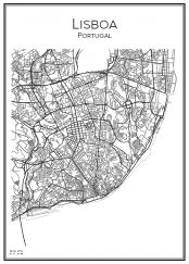 Stadskarta över Lissabon