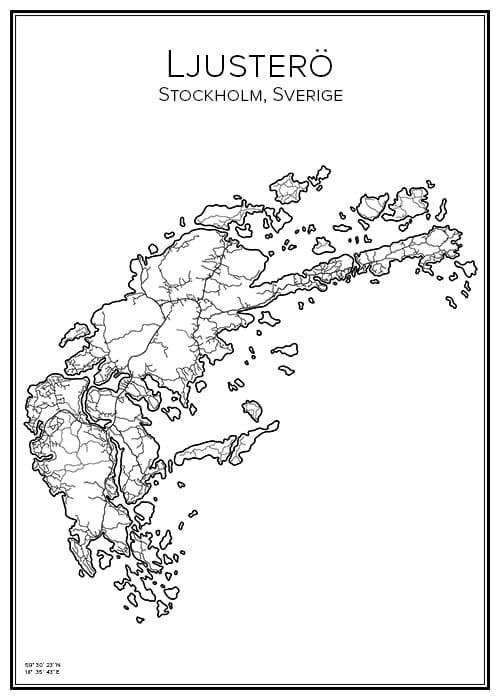 Stadskarta över Ljusterö