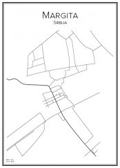 Stadskarta över Margita