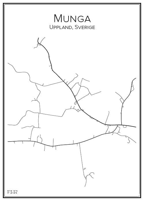 Stadskarta över Munga
