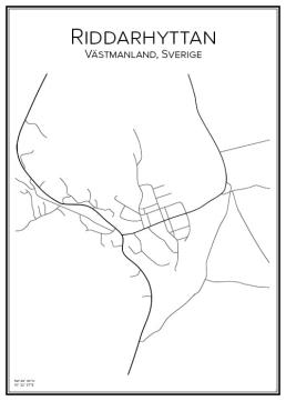 Stadskarta över Riddarhyttan