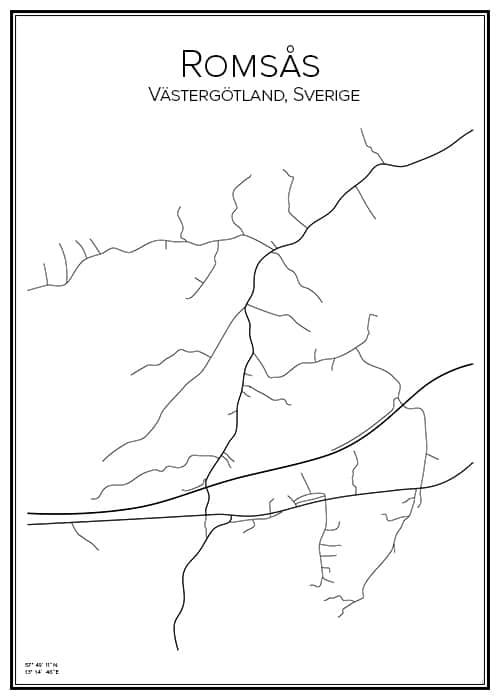 Stadskarta över Romsås