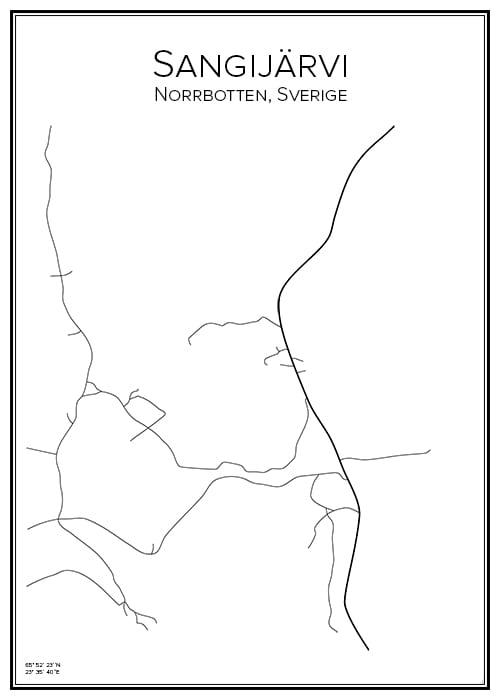 Stadskarta över Sangijärvi