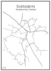 Stadskarta över Svensbyn
