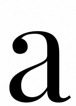 Poster med bokstaven A