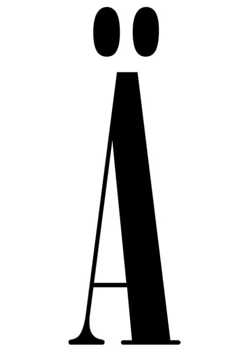 Poster med bokstaven Ä