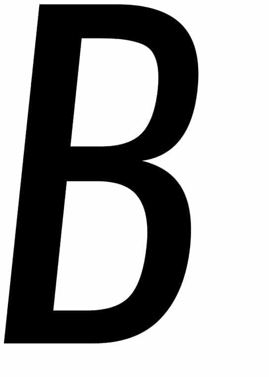 Poster med bokstaven B