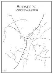 Stadskarta över Blidsberg