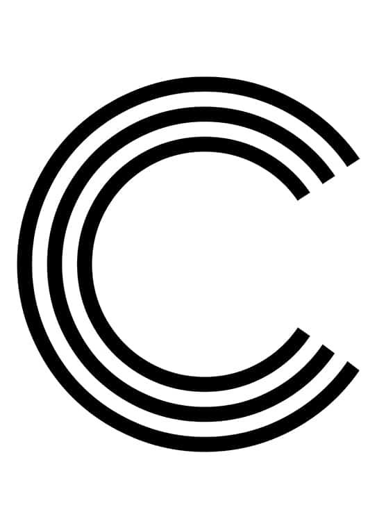 Poster med bokstaven C