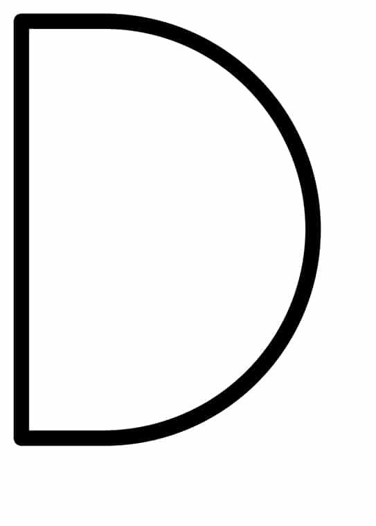 Poster med bokstaven D