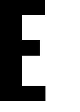 Poster med bokstaven E