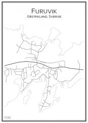 Stadskarta över Furuvik