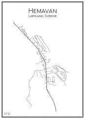 Stadskarta över Hemavan