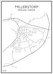 Stadskarta över Hillerstorp