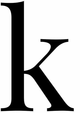 Poster med bokstaven K