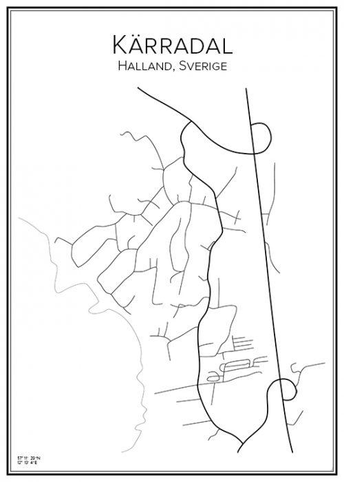 Stadskarta över Kärradal